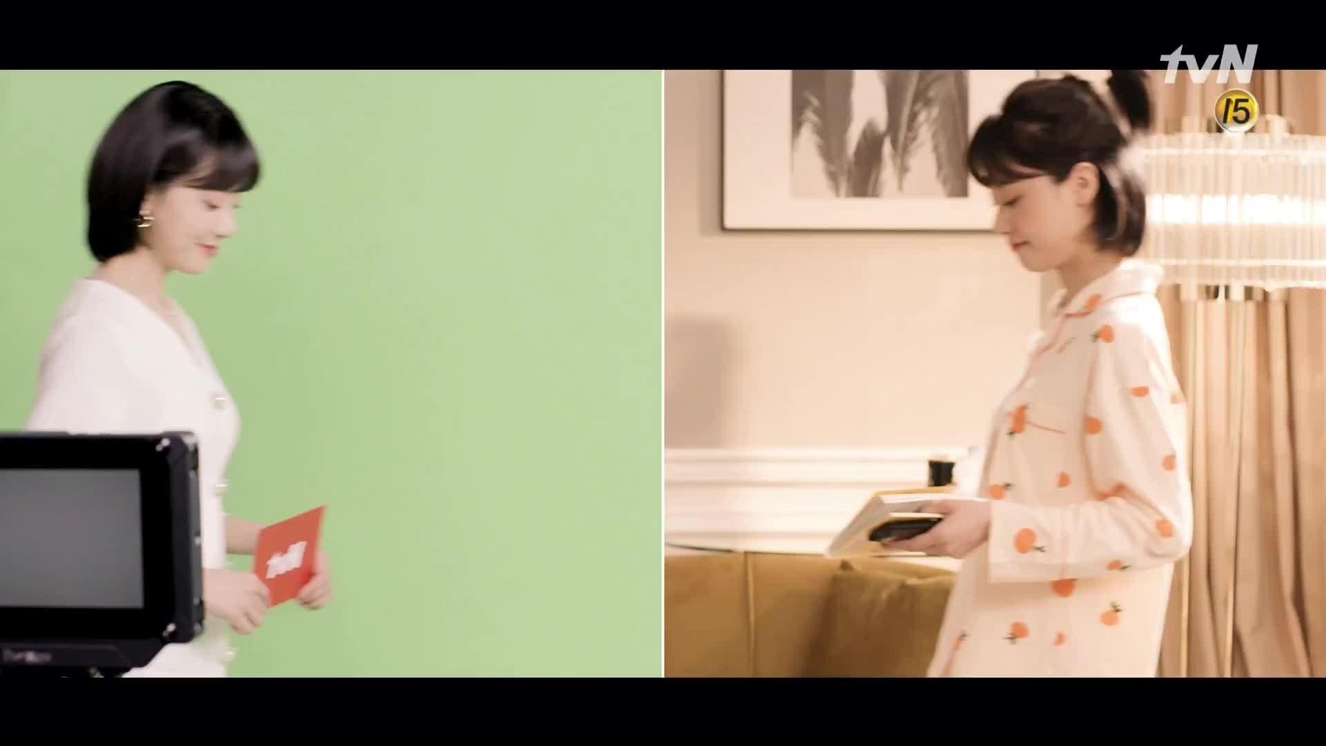 두 얼굴의 김민아? 기상캐스터 [ON] 한껏 늘어지는 [OFF] 김민아의 사적 다큐멘터리